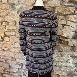St. John Sweaters - ST.JOHN BROWN Longline Cardigan SIZE Small